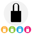 bag icon vector image