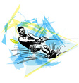 Water skiing vector image vector image