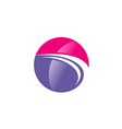 abstract globe sphere beauty technology logo vector image