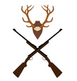 Deer horns and rifle vector image