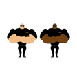 Security Guards nightclub Two bodybuilder guarding vector image