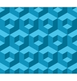 Blue cubic geometric seamless pattern vector image