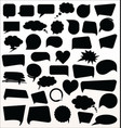 black speech bubbles collection vector image