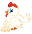 Cartoon Hen with Eggs vector image