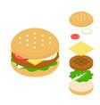 cheeseburger icon vector image