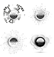 Cyber monday banners set noir style elements for vector image
