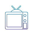 retro television isolated icon vector image