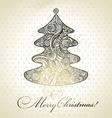 Christmas tree hand drawn design vector image vector image