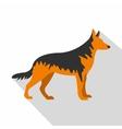 German Shepherd dog icon flat style vector image