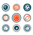 sports set of premium stamps vector image
