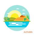 nature - autumn landscape vector image