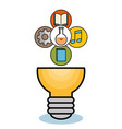 light bulb and objects design vector image