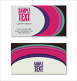 Retro Business card vector image