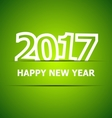 2017 Happy New Year on green background vector image