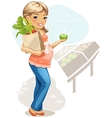 Healthy eating for pregnant woman vector image