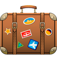 travel luggage vector image vector image