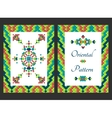 Vertical card with bright tribal ornament vector image