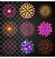Fireworks icons set vector image vector image