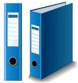 Blue binder vector image