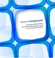 Blue square and frame background vector image