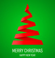 Christmas tree made of folded paper origami 07 vector image