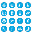 circus icon blue vector image