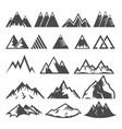 mountain logo mounting logotype peak of vector image