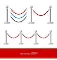 Red Carpet Silver Barrier Constructor vector image