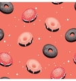 Seamless background pattern Delicious dessert vector image