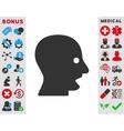 Shouting Head Icon vector image