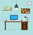 workspace background vector image