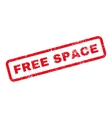 Free Space Text Rubber Stamp vector image