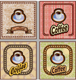 set of coffee banners for restaurants cafes vector image