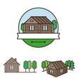 wooden house logo vector image