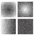 set of grunge halftone dots background vector image