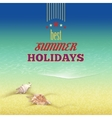 Summer holidays retro style background vector image vector image