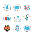 347business concept set vector image