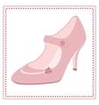 Vintage wedding shoe label vector image vector image