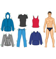 man and clothes vector image