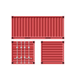 Metal cargo container vector image vector image