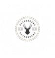 Deer head Design Element in Vintage Style for vector image