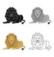 a lion a wild and ferocious predator leo the vector image