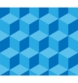 Blue cubic seamless pattern vector image