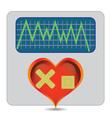 illness heart vector image