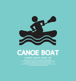 Man Row A Canoe Boat vector image