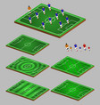 soccer tactic info element graphic vector image