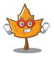 super hero maple character cartoon style vector image