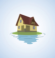 The small house on a light background vector image