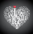 typography heart vector image
