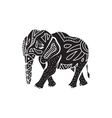 Elephant icon in simple style vector image